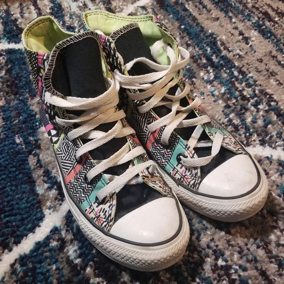 Converse Hi Top Multi Colored Sneakers